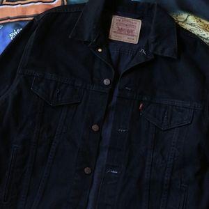 Vintage Black Levi's Denim Jacket Medium/Large